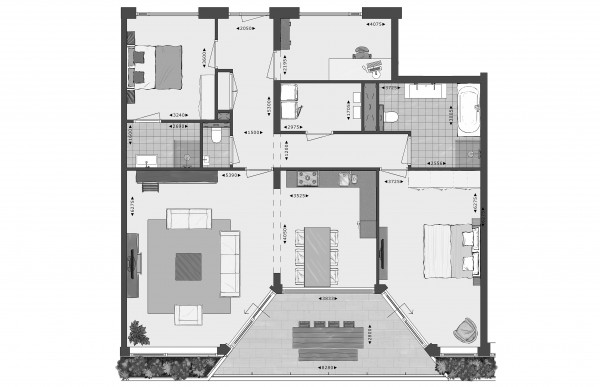 Beeldenfabriek - 2D plattegrond - Basic
