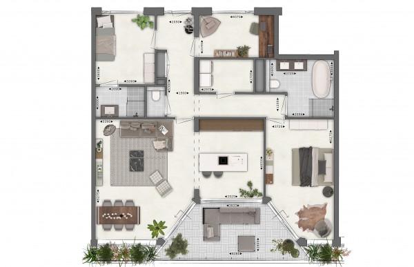 Beeldenfabriek - 2D plattegrond - Urban Stijl