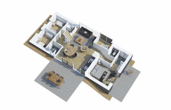 Beeldenfabriek - 3D plattegrond Woning