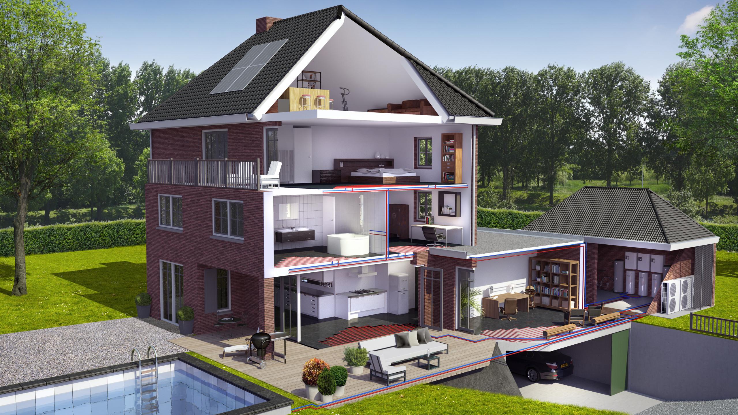 Beeldenfabriek - 3d doorsnede Woning